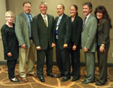 AAPSM Executive Board 2011 2012 (l t r) - Dr.'s Karen Langone, Jamie Yakel, Rob Conenello, Dave Jenkins, Dianne Mitchell, Paul Langer and AAPSM Executive Director Rita Yates.