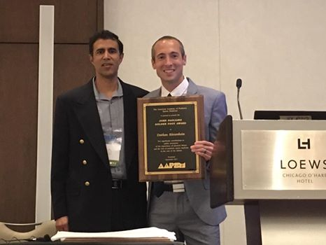 AAPSM President Amol Saxena, DPM, presents 2017 John Pagliano Golden Foot Award to American Long Distance Runner Dathan Ritzenhein during our Annual Meeting Awards Ceremony.