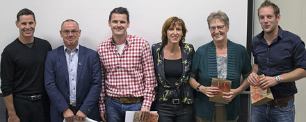 (L-R) Dr. Matthew Werd with Dutch and Belgium Speakers