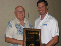 This is Dr. William Van Pelt receives AAPSM Outstanding Service Award in Hawaii