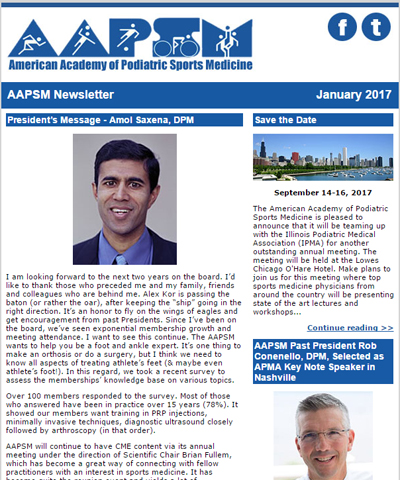 January AAPSM Newsletter