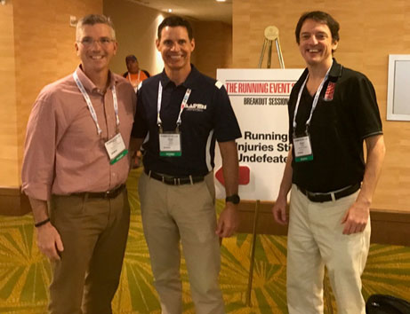 AAPSM Fellows Participate in TRE - (pictured left to right) AAPSM Fellows Rob Conenello DPM, Matt Werd DPM and Brian Fullem DPM